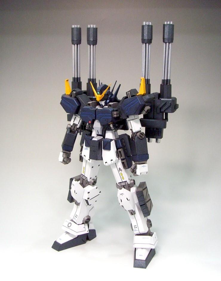 Gundam Meisters Papercraft Model Gundam Heavyarms Custom