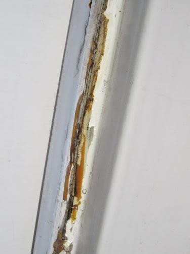 gummed up fiberglass trailer door edge