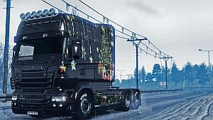 Happy New Year 2016 skin for Scania RJL Longline