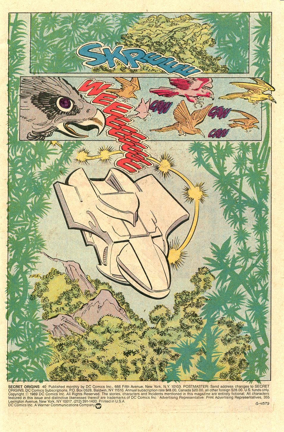 Read online Secret Origins (1986) comic -  Issue #40 - 2