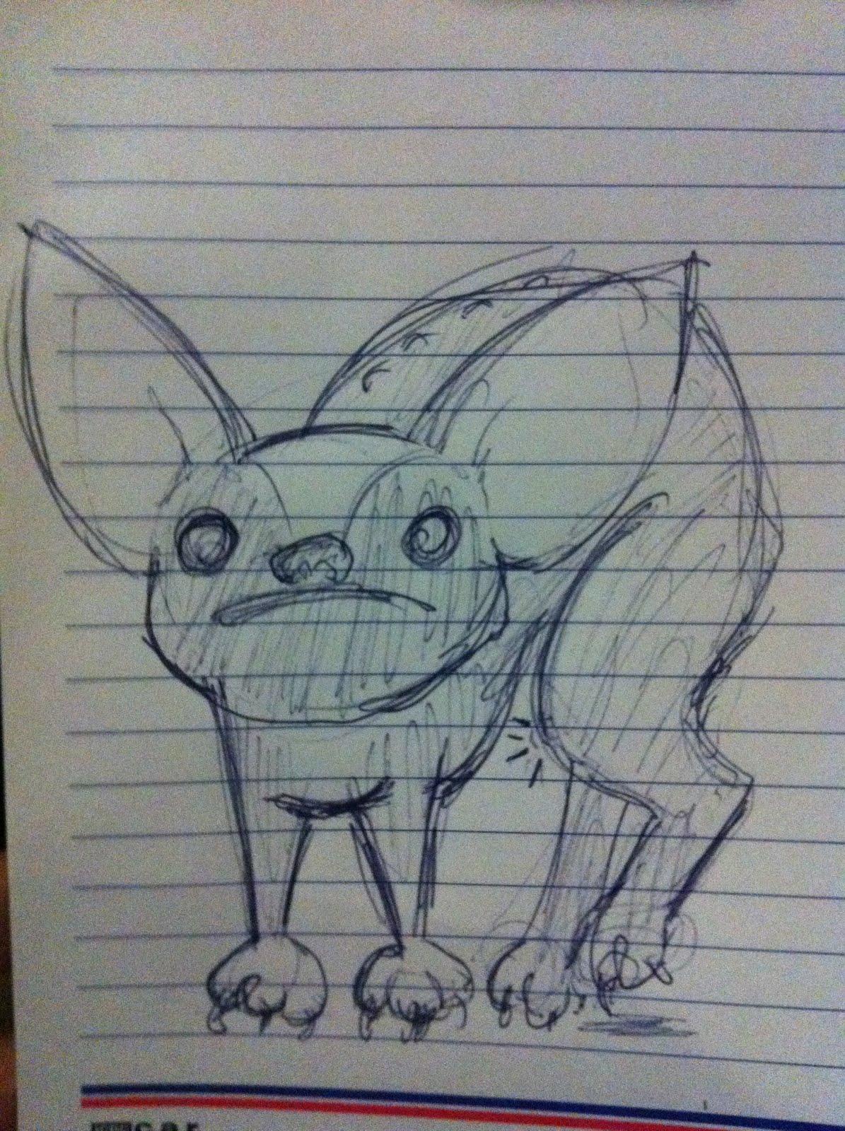 A Million Bad Drawings: Poor Hurley! Bad Drawing #86