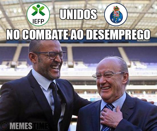 Meme Jorge Nuno Pinto da Costa e o Treinador do FCP Nuno Espírito Santo – Unidos No Combate ao Desemprego.