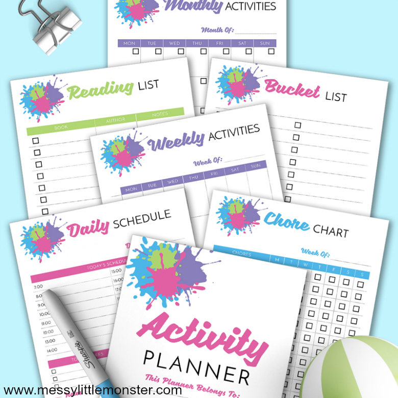 Kids Activity Planner Pack - Get organised with these kids monthly, weekly and daily activity planners!