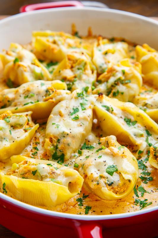 Cajun Chicken Alfredo Stuffed Shells Recipe On Closet Cooking-7913