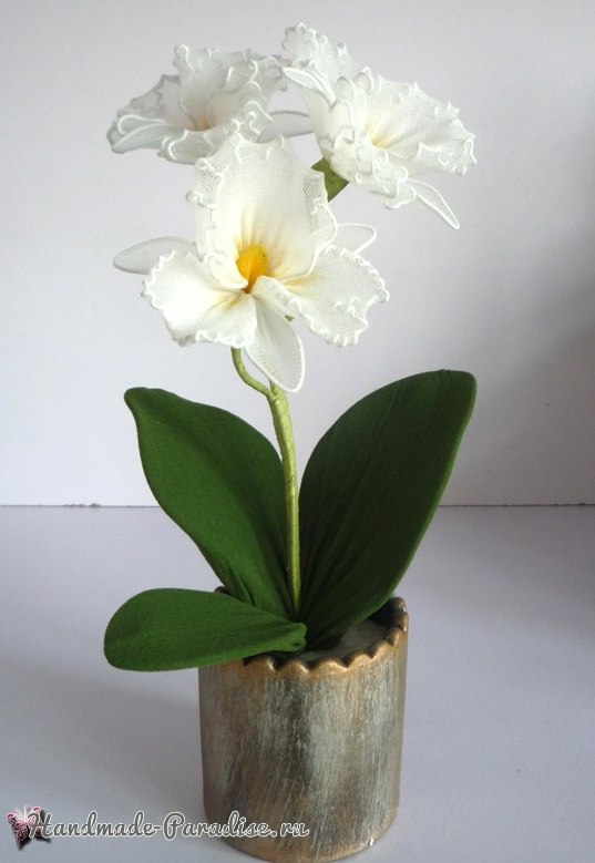 Орхидея из проволоки и капрона