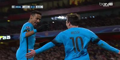 UEFA-16 : Arsenal 0 vs 2 Barcelona 23-02-2016
