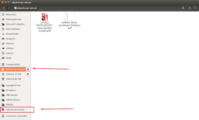 Unidade de rede mapeada Ubuntu