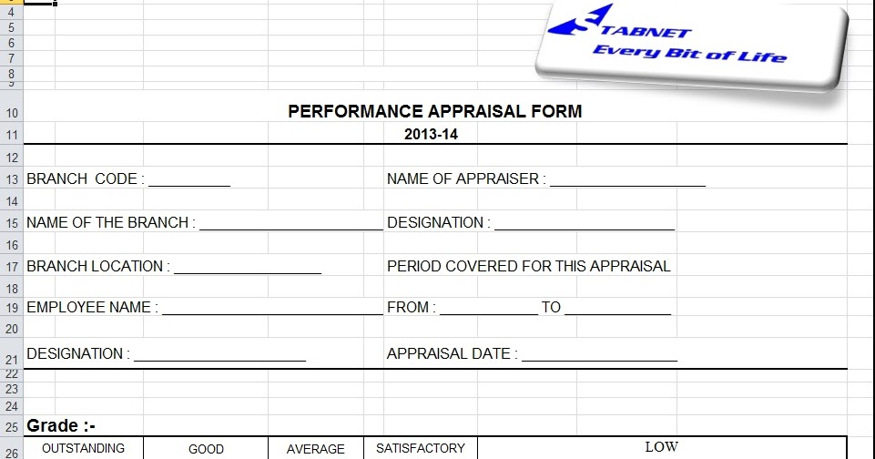 Every Bit of Life: Performance Appraisal Form Free Download