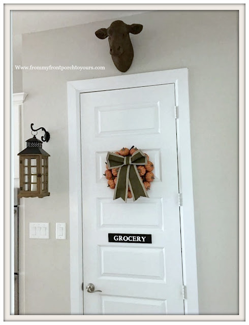 Fall Pumpkin Wreath-Farmhouse Kitchen-From My Front Porch To Yours