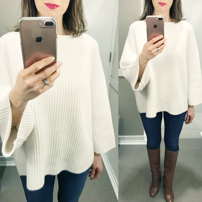 try on session loft top blogger