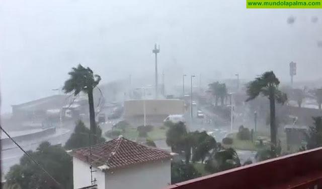 El mar, el viento y la lluvia seguirán azotando La Palma hasta mañana, Borrasca Emma