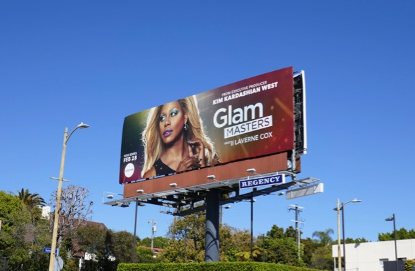 Glam Masters series launch billboard