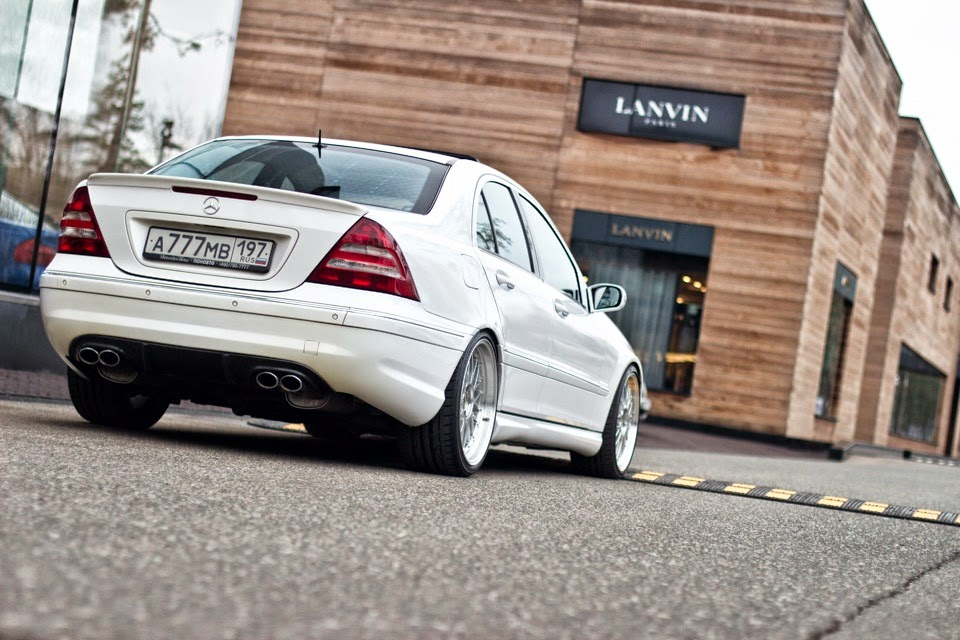 mercedes benz w203 c55 amg on bbs wheels benztuning. Black Bedroom Furniture Sets. Home Design Ideas