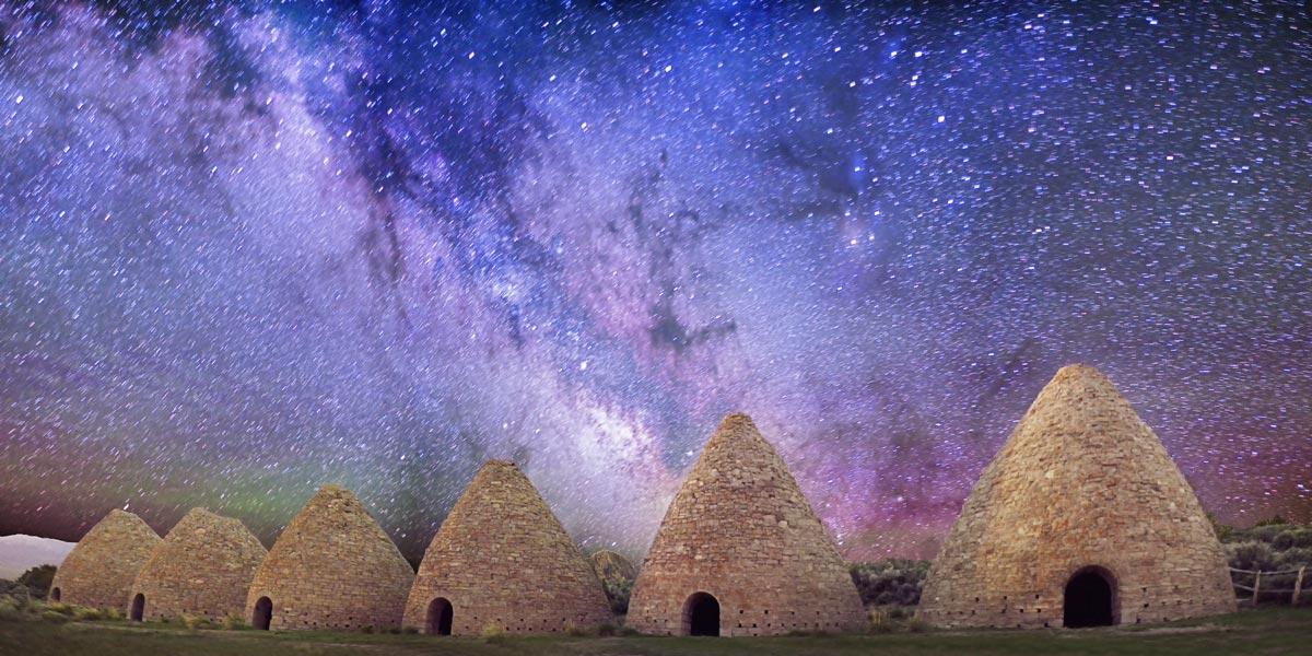 Milky Way Over Abandoned Kilns