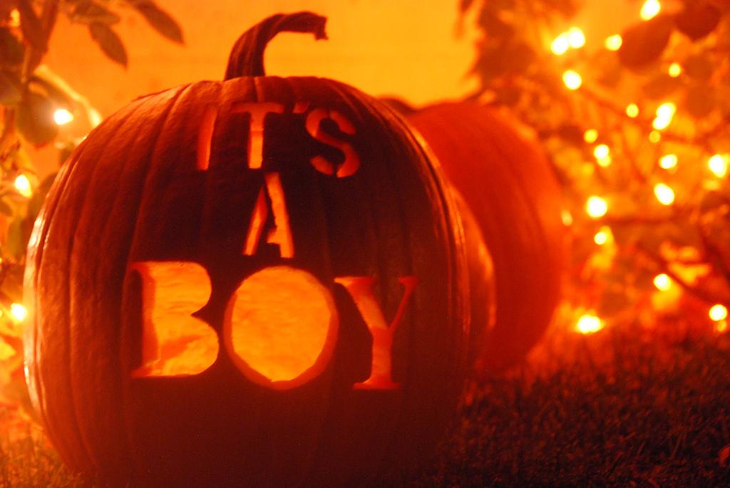 House Of Paint It S A Boy Pumpkin