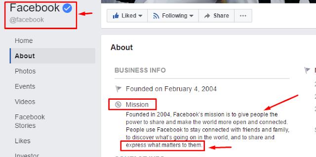 هدف الفيس بوك
