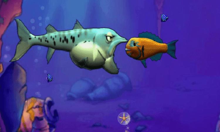 تحميل لعبة السمكة القديمة feeding frenzy
