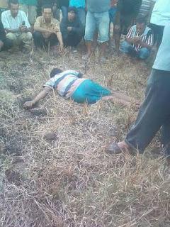 Warga Desa Tonda Ditemukan Meninggal di Areal Persawahan