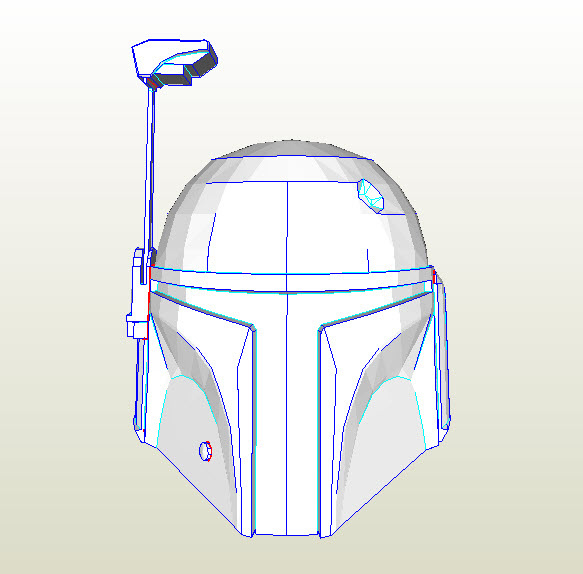 Trying to make a Boba Fett helmet and I'm far from being done with the ...