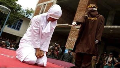 امرأه تري مقعدها فى الجنه اثناء اعدامها ..مؤثر جدا !