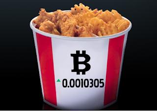 سلسلة مطاعم كنتاكي KFC تقبل التعامل بعملة البيتكوين Bitcoin
