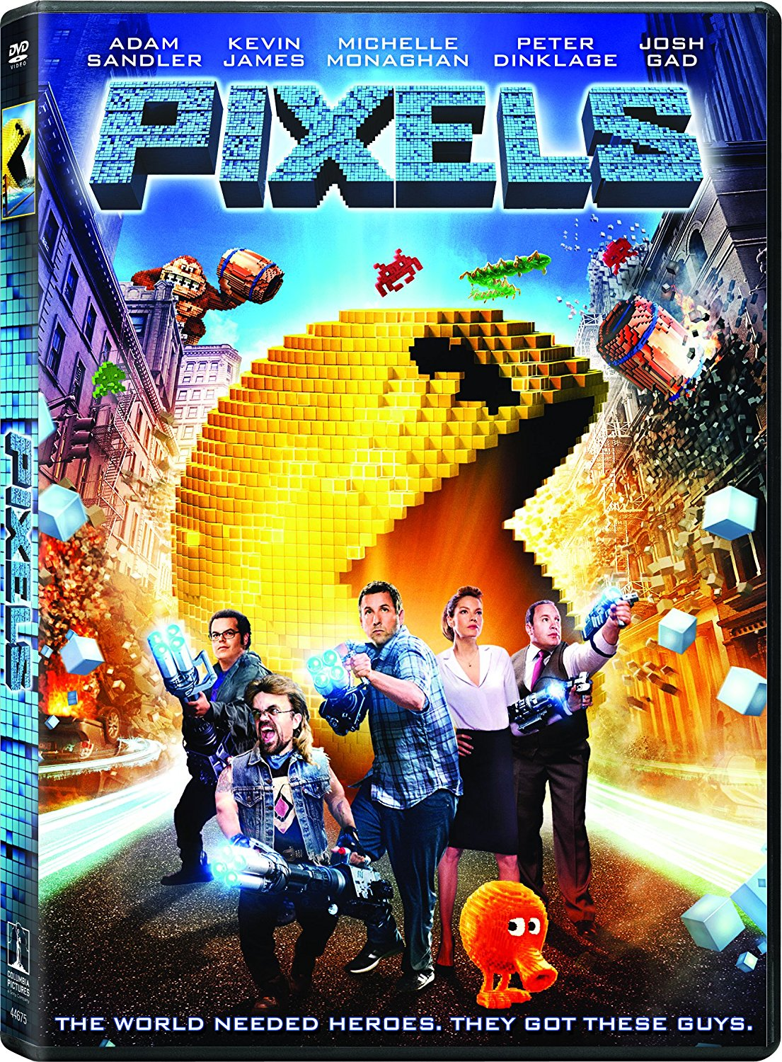 Pixels (2015) 350MB BluRay Dual Audio Hindi 480p x264