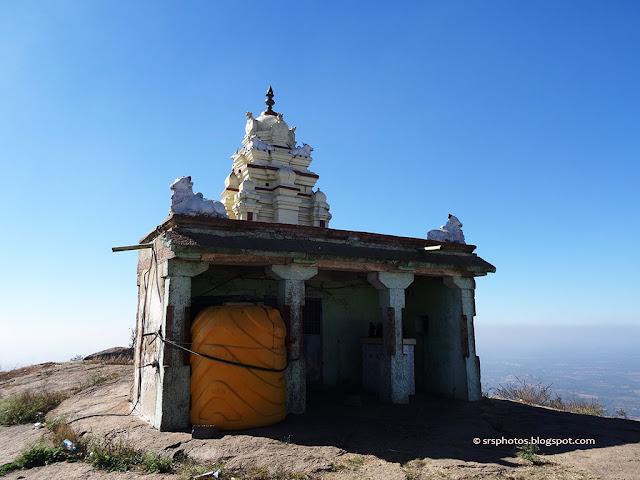 Temple at the top of the Shivaganga HIlls, Dobbaspet, Bangalore