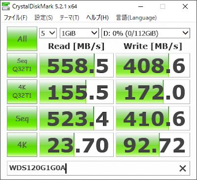 CrystalDiskMark WDS120G1G0A