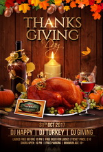 Thanksgiving Day Party Flyer   Flyers For All Events