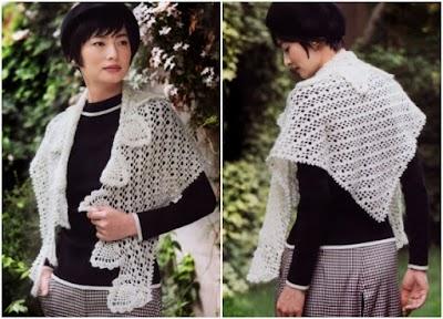 Chal picos motivos ananás patrón gráfico de crochet