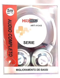 cuffie stereo per tv 5 metri maxexcell