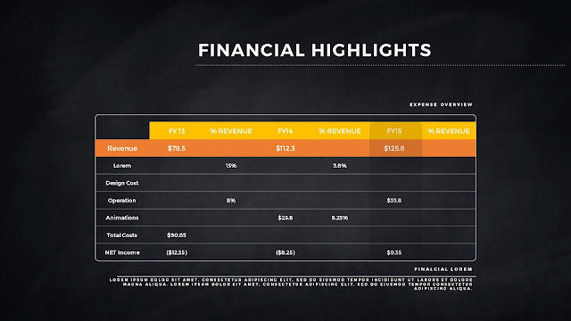 Financial Highlights And Infographic Elements in Free PowerPoint Template Slide 8