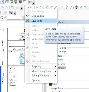 klik editor > save edits > stop editing
