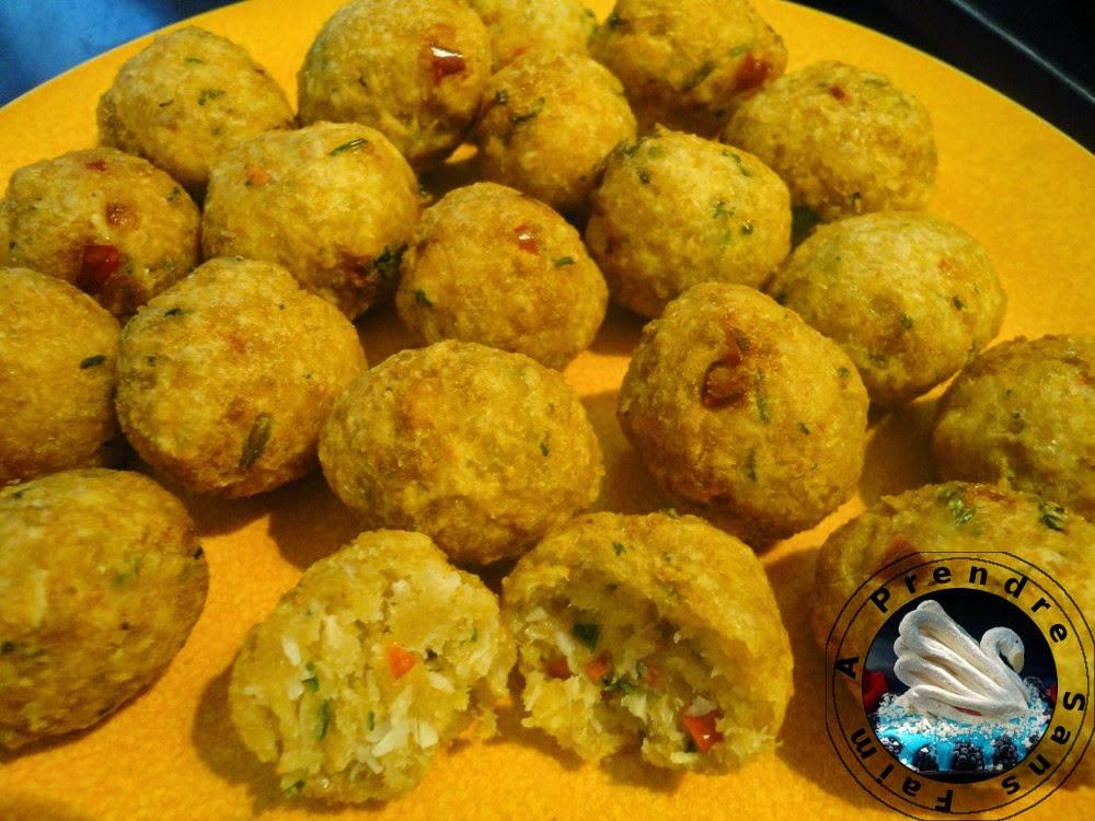 Croquettes de crabe et noix de coco