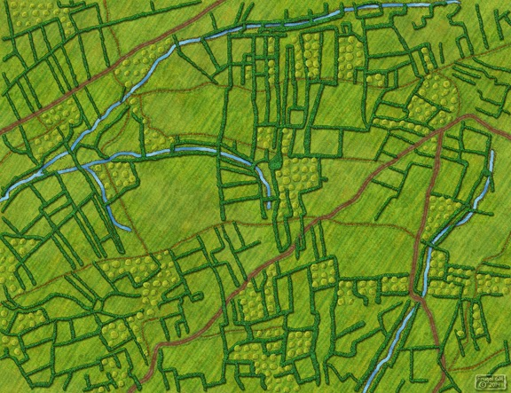 Free Map 033 Hedgerow Countryside  Frugal GM