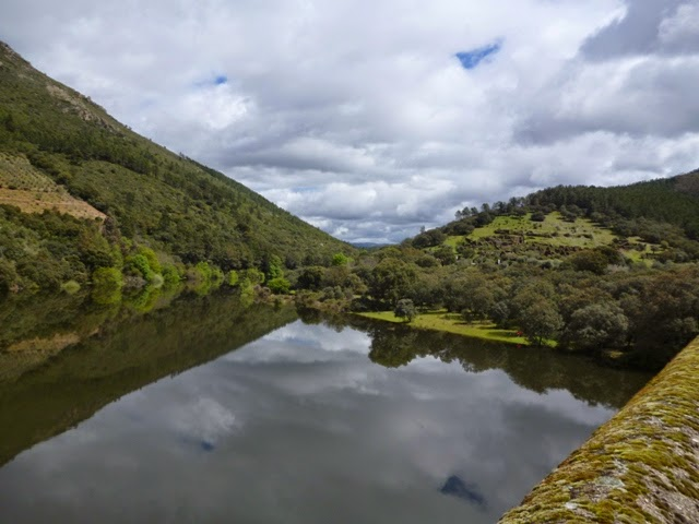 Salida de Riomalo. Río Alagón
