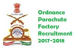 Ordnance Parachute Factory Recruitment