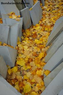 Autumn is arriving in Cava Nardini quarry of Pietra Serena (stone)