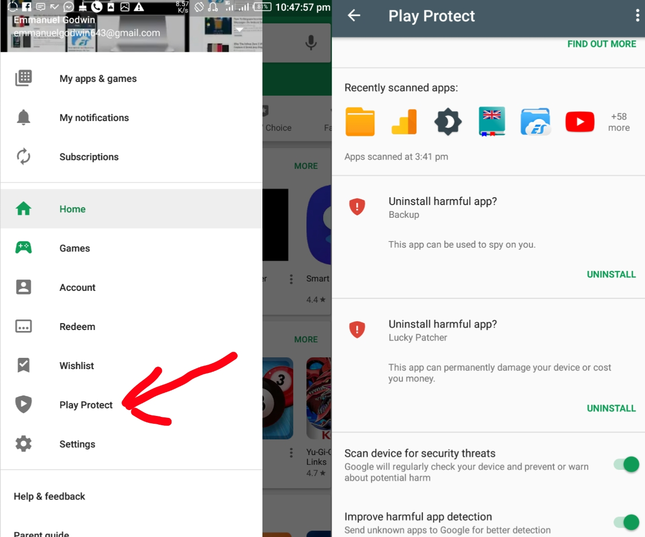 How to activate Google Play Protect