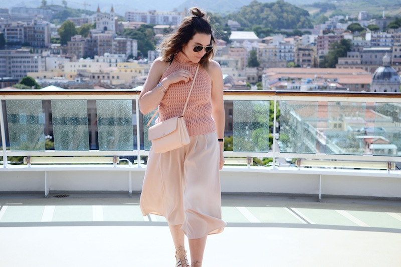 Forever 21 culottes charlotte Russe sweater Aritzia auxiliary crossbody bag messina italy travel style Vancouver fashion blogger