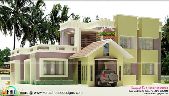 2126 sq-ft modern house