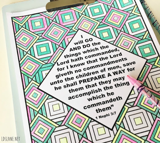 Scripture Coloring Page: I Will Go