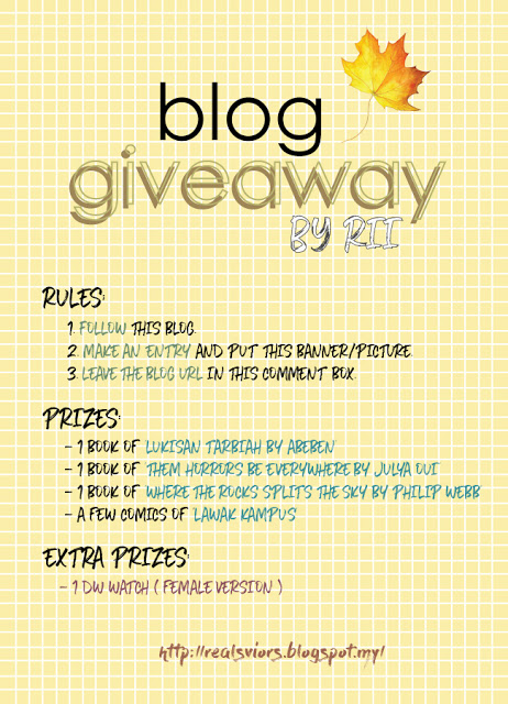 Blog Giveaway by RII