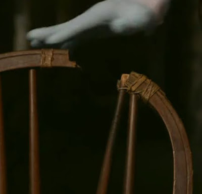 Screenshot of the chair in which Josef Jakobs was executed on 15 August 1941. - Majesty & Mortar: Britain's Great Palaces - Opening the Palace Doors