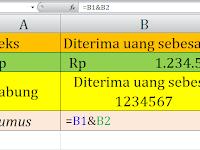 Cara Menggabungkan Data Teks dan Format Rp di Excel