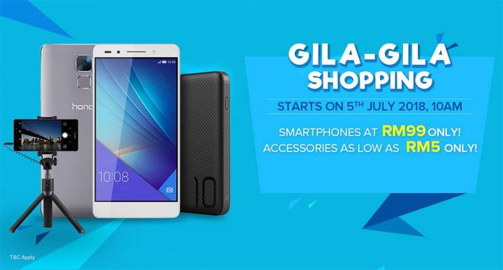 Honor 7 Ditawarkan Dengan Harga Cuma RM99 Gila-Gila Shopping