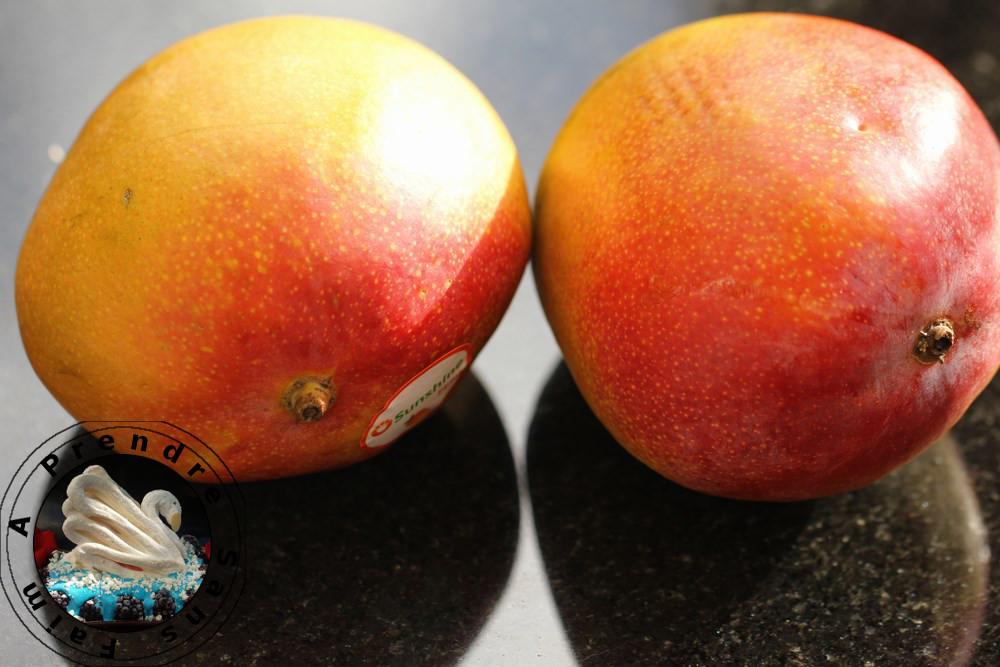 Gâteau invisible mangue rhubarbe