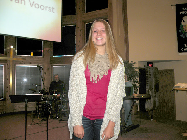 We Celebrated The Profession Of Faith Katelyn Van Voorst At 945 AM Service On November 22 2015