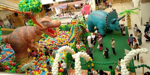 Ballon Carnival Dinosour Land di Sunway Carnival