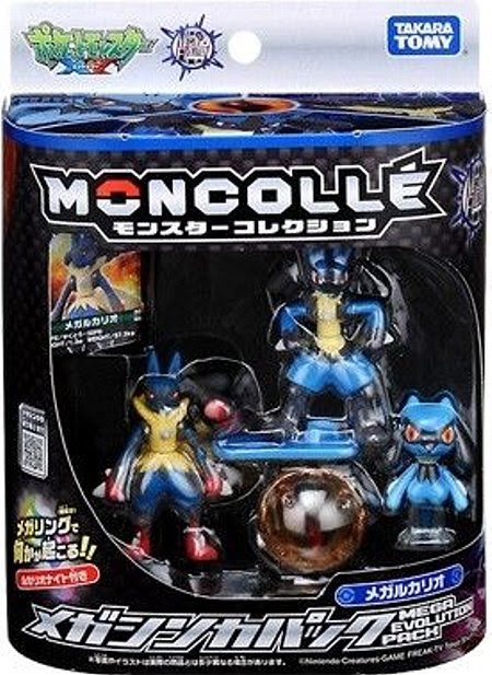 Lucario figure super size in Takara Tomy Monster Collecton Mega Evolution Lucario Pack